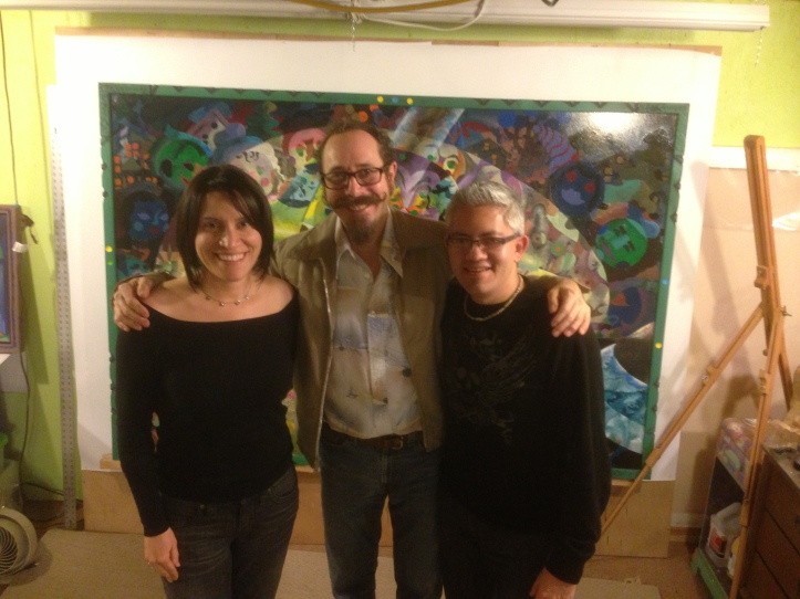 From left, Yanina Gomez, Tom Torluemke and Sergio Gomez.