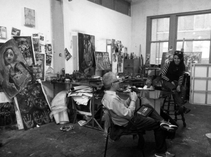 Sergio Gomez interviews Corinna Button in her Zhou B Art Center studio.