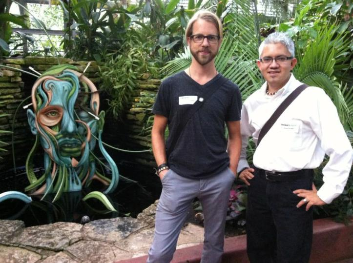 Jason Brammer and Sergio Gomez during the opening of  Chicago's Twelve st Garfield Park Conservatory