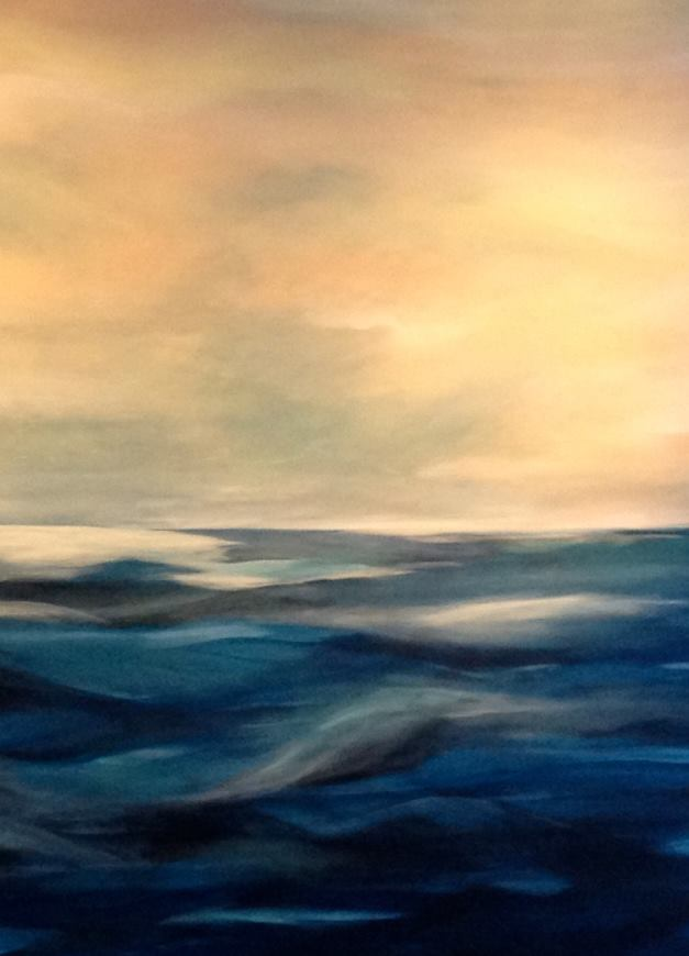 Meg Frazier Painting, Acrylic on Canvas 48X54, Sailing