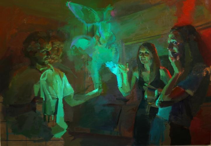 Painting by Spencer Corbett