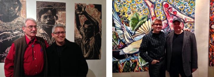 Left: John Pitman Weber and Sergio Gomez. Right: Sergio Gomez and Oscar Martinez