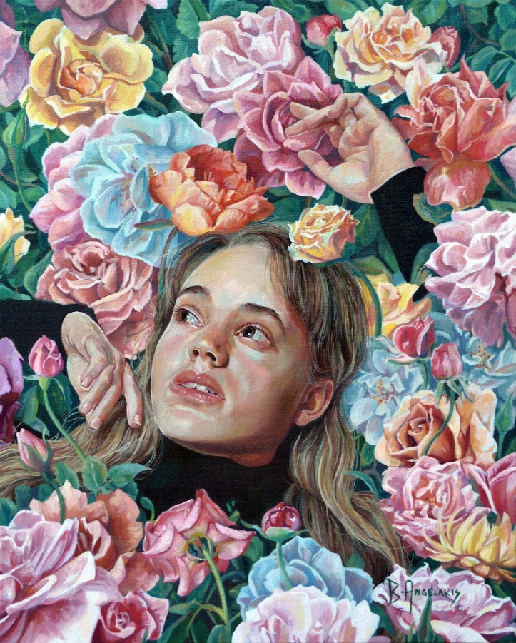 Brianna Angelakis, Florimania, oil on canvas, 16x20 inches