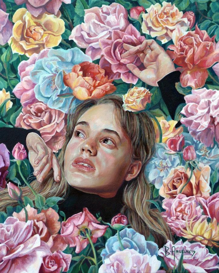 Brianna Angelakis, Florimania, oil on canvas, 16x20 inches