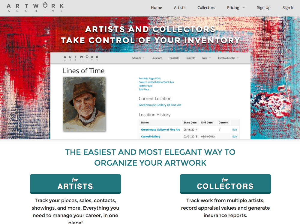 Organize and manage your art with Artwork Archive! (1/2)