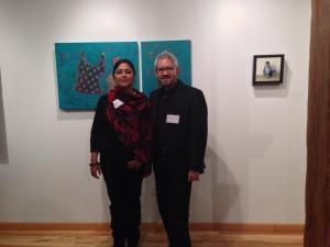 Chandrika Marla and Sergio Gomez at the opening of I Am American.
