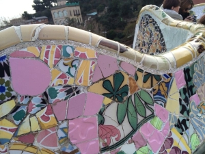 The undulating bench at Park Guell