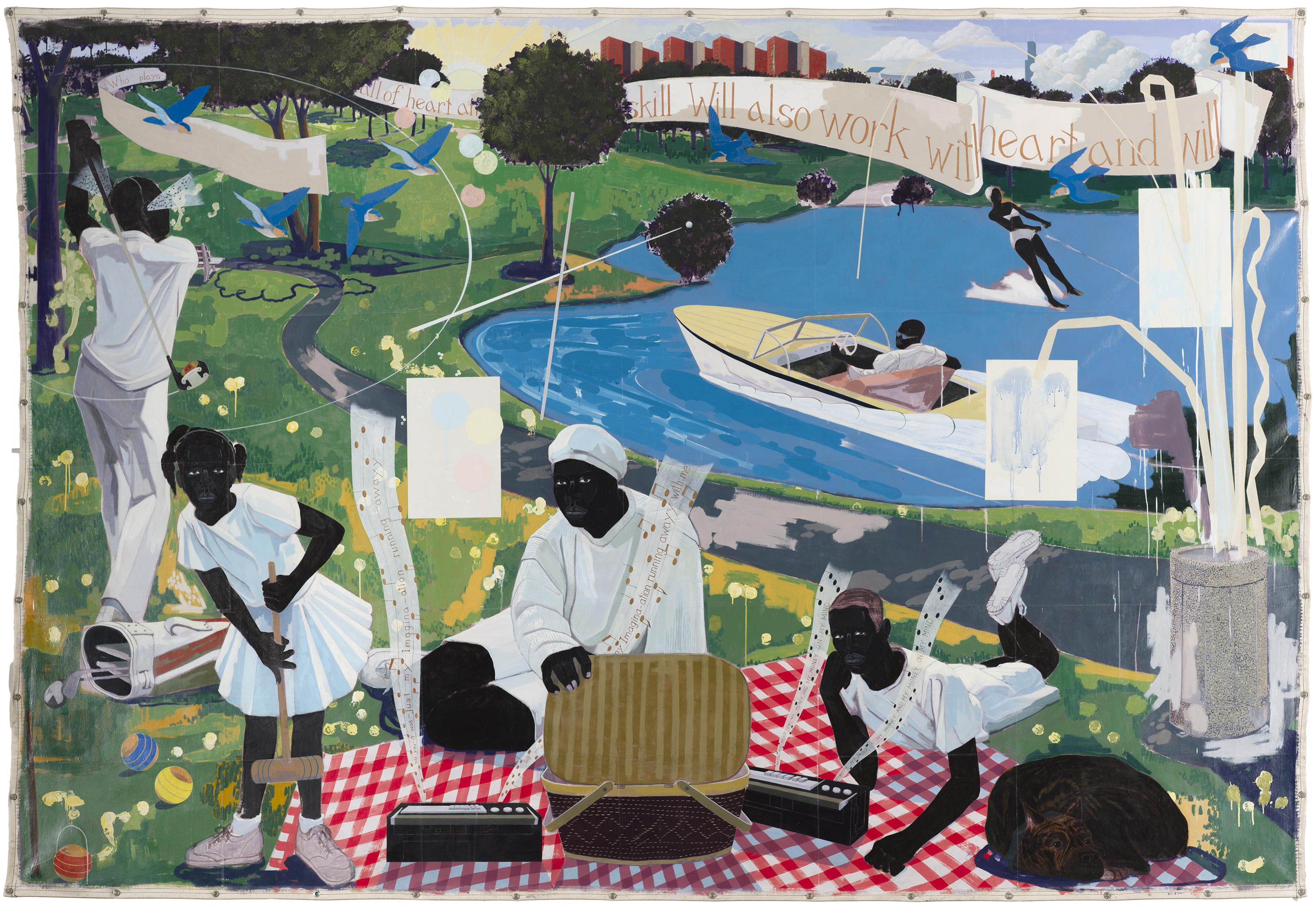 Kerry James Marshall retrospective at the MCA, Chicago