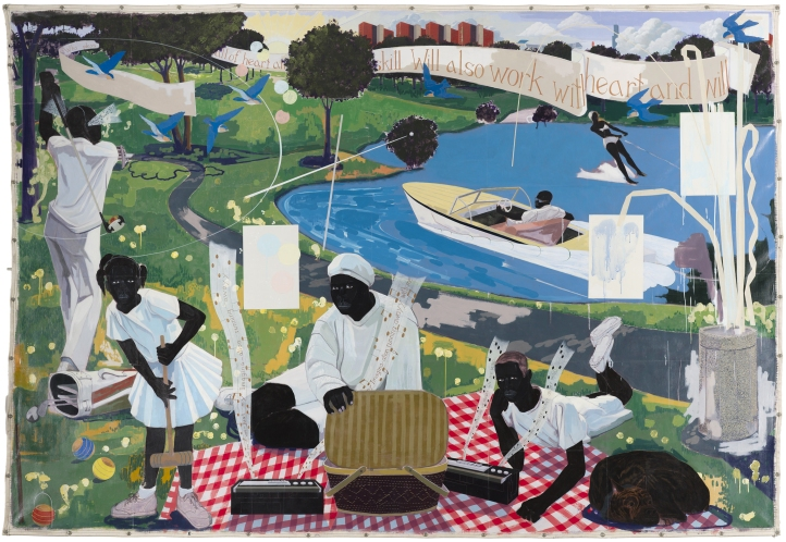 Kerry James Marshall, Untitled (Painter), 2009. Collection Museum of Contemporary Art Chicago, gift of Katherine S. Schamberg by exchange. © 2009 Kerry James Marshall. Photo: Nathan Keay, © MCA Chicago.